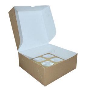 Коробка для капкейков. Крафт-премиум.