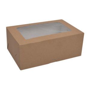 Коробка для капкейков с окном. Крафт-премиум.