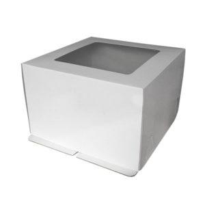 """Коробка для торта """"Стандарт"""" с квадратным окном"""