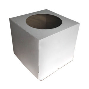 """Коробка для торта """"Стандарт"""" с круглым окном"""
