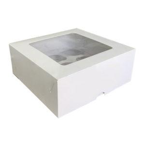 Коробка для капкейков с окном. Эконом.