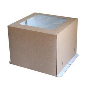 """Коробка для торта """"Крафт-Премиум"""" с окном"""