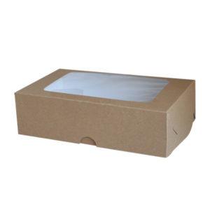 Коробка для зефира с окном. Крафт-премиум.