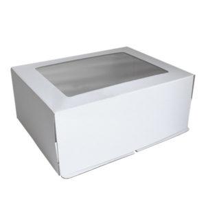 """Коробка для торта """"Стандарт"""" с окном"""