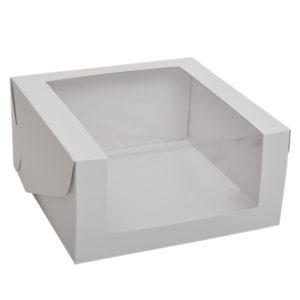 """Коробка для торта """"Стандарт"""" с угловым окном"""