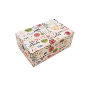 Упаковка для наггетсов, куриных крыльев, картофеля фри (с печатью «Enjoy»)