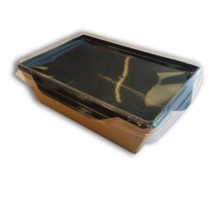 Салатники с прозрачной крышкой (Black Edition)