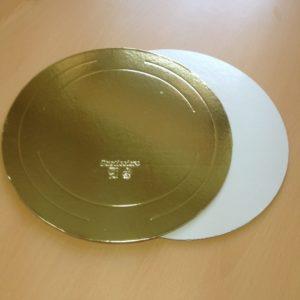 """Подложка для торта """"Pasticciere"""" (золото/бел. жемчуг; 3,2 мм)"""