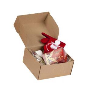 Коробка-сундучок (бурый крафт)