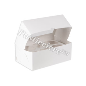 """Короб для капкейков """"Pasticciere"""" белый с окном"""