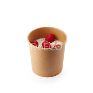 Крафтовая упаковка для супов, каш, мороженого с картонной крышкой