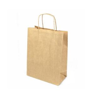 Бумажный пакет «крафт» с крученой ручкой