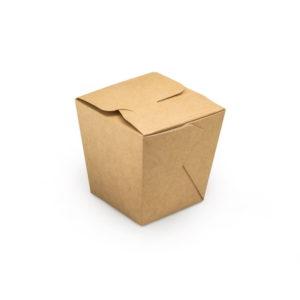 Крафтовая упаковка для лапши склеенная