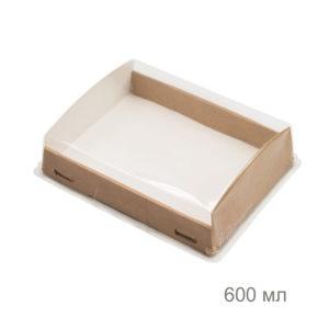 Крафтовая упаковка с прозрачным куполом