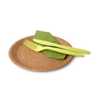 Бумажные крафтовые тарелки